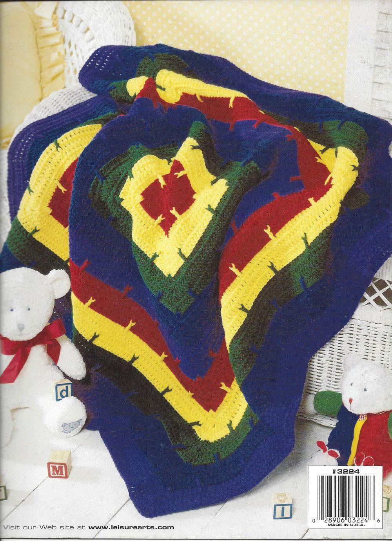 🌈 Coberta Bebê Blocos Crochetar Quadrado por Malha itens decorativos Criações -  / 🌈  Deck Baby Blocks Crocheted Square by Knit Knacks Creations -