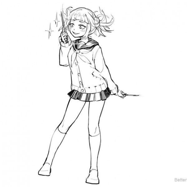 Boku No Hero Academia Coloring Pages Todoroki Lineart By Justaweirdgirl Free Printable Coloring Pages In 2020 Coloring Pages Toga Hero