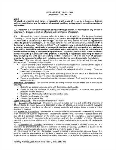 Method In A Research Paper Quantitative