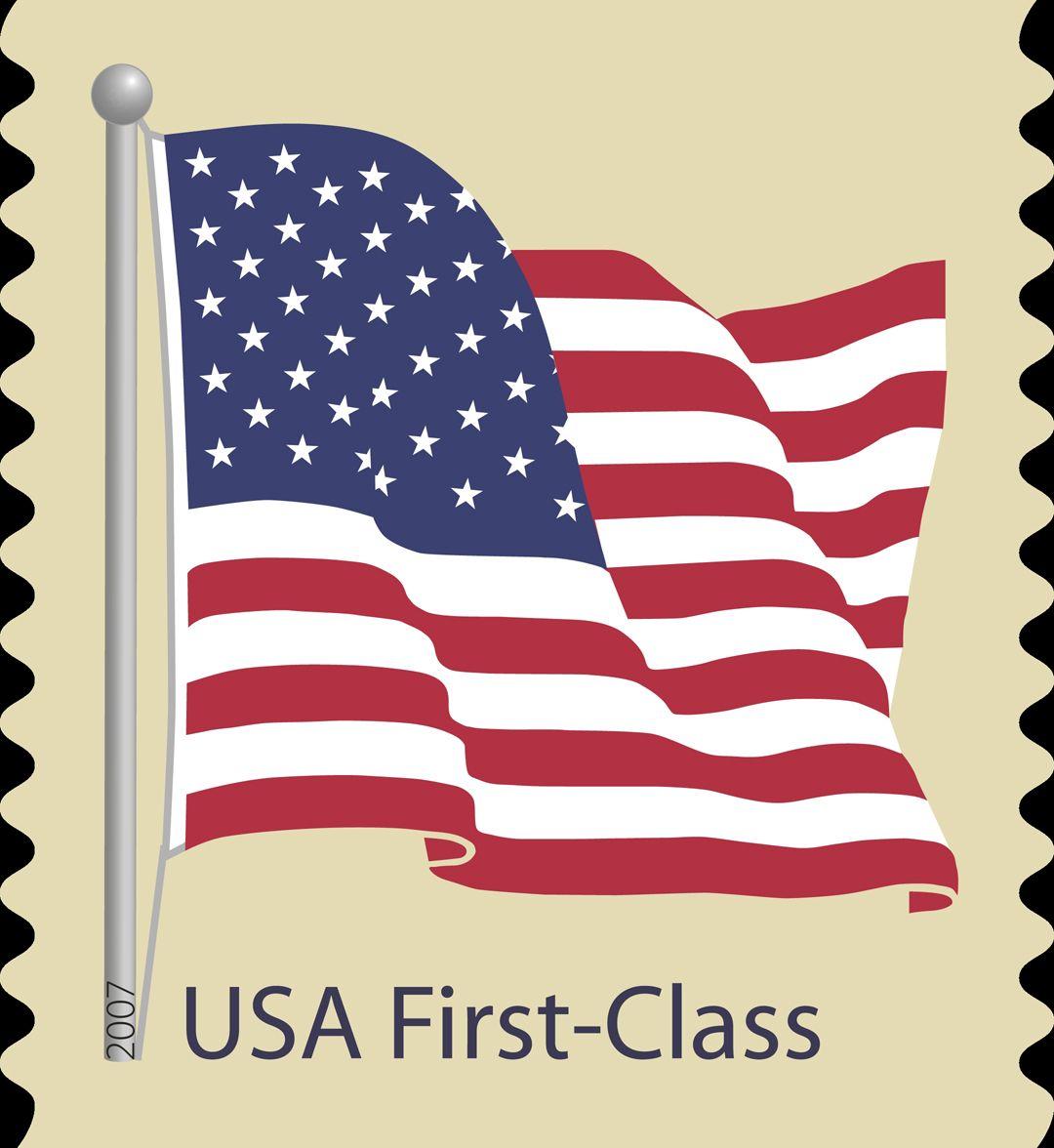 USA First Class Coil Flag Stamp