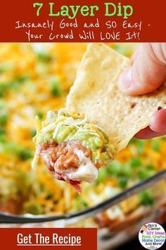 Photo of EASY Party Appetizer Recipes That are Crowd PLEASERS.  This 7 layer dip recipe i…