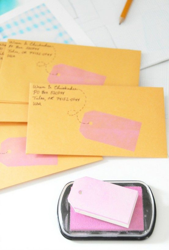 Cute Idea For Mailing Christmas Cards Snail Mail Pinterest