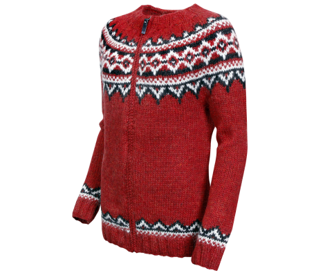 Brynja Icelandic Wool hand knitted Jumper with Zipper