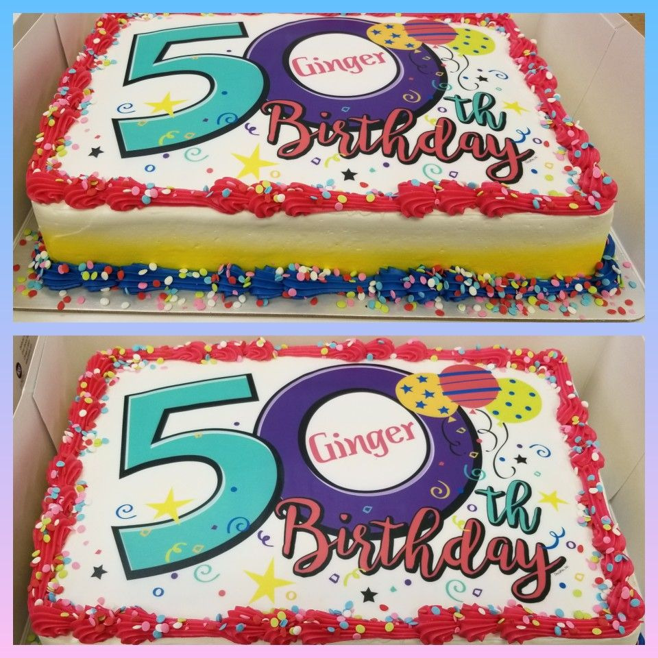 Groovy 50Th Birthday Sheet Cake With Images Birthday Sheet Cakes Funny Birthday Cards Online Alyptdamsfinfo