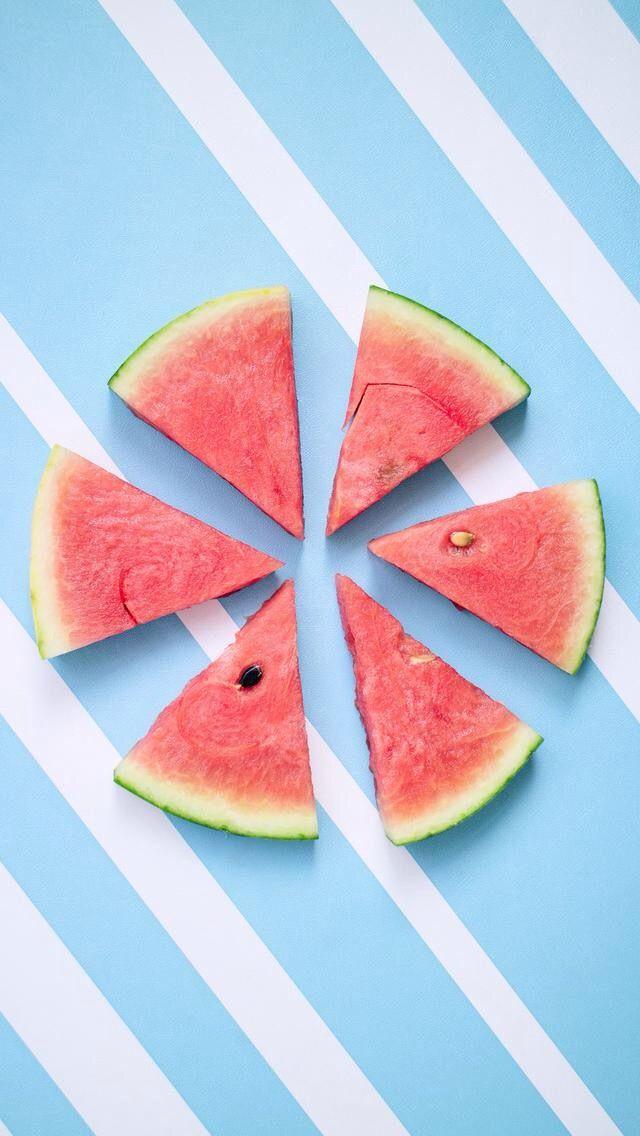 Food Wallpaper, Cute Wallpapers, Iphone Wallpapers, Summer Vibes,  Instagram, Watermelon, Cali, Ipod, Drinks