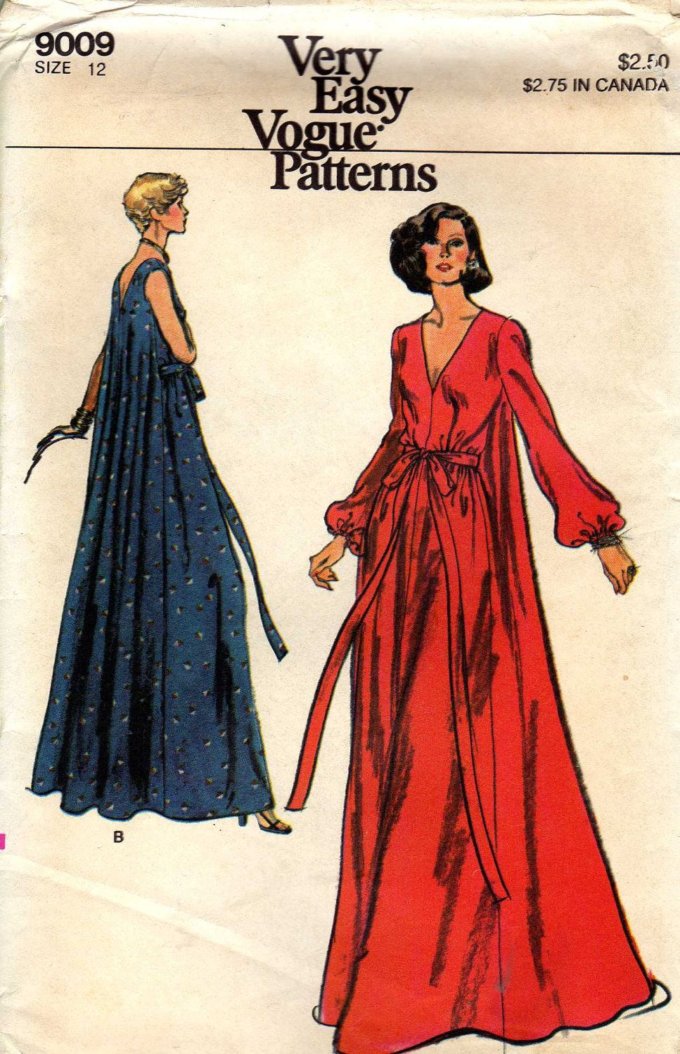 I Love The Flowiness Vogue 9009 Misses Loungewear Circa