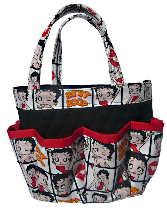 Betty Boop 8 Pockets Bingo Bag Great For Craft And Make Up Organizer From Sewtrendy Rose