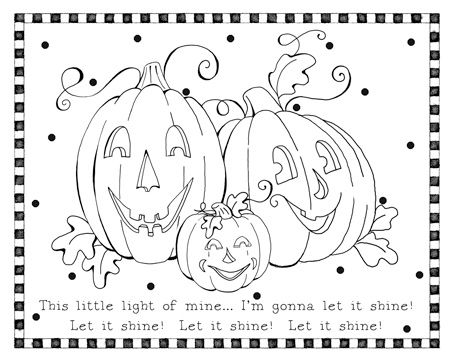 Jack O Lantern Color Sheet Liz Curtis Higgs Has A Great Coloring Pages Jesus Shine In Me Page