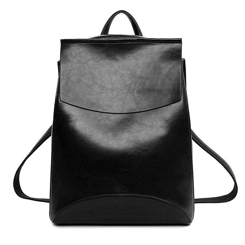 8e046f9896 women black backpacks bolsa PU Leather shoulder bags for Teenage Girls  Female rucksacks school crossbody bags
