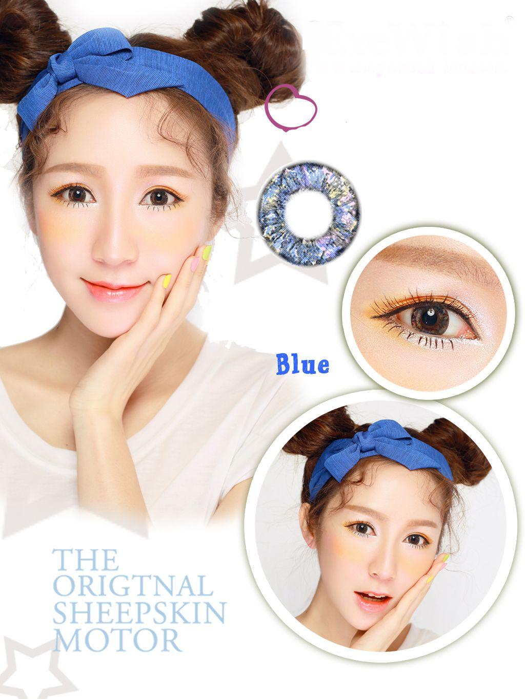 031f7137fe Soft Cosmetic Color Contact Lenses Prescription Jade-Like Eye (Blue ...