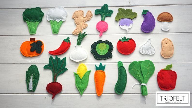 Vegetables stuffed felt Artichoke magnet or ornament Nursery decor,Food for playing felt vegetables Felt ARTICHOKE Artichoke toy Food