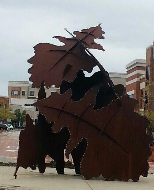 Metal Leaf Sculpture