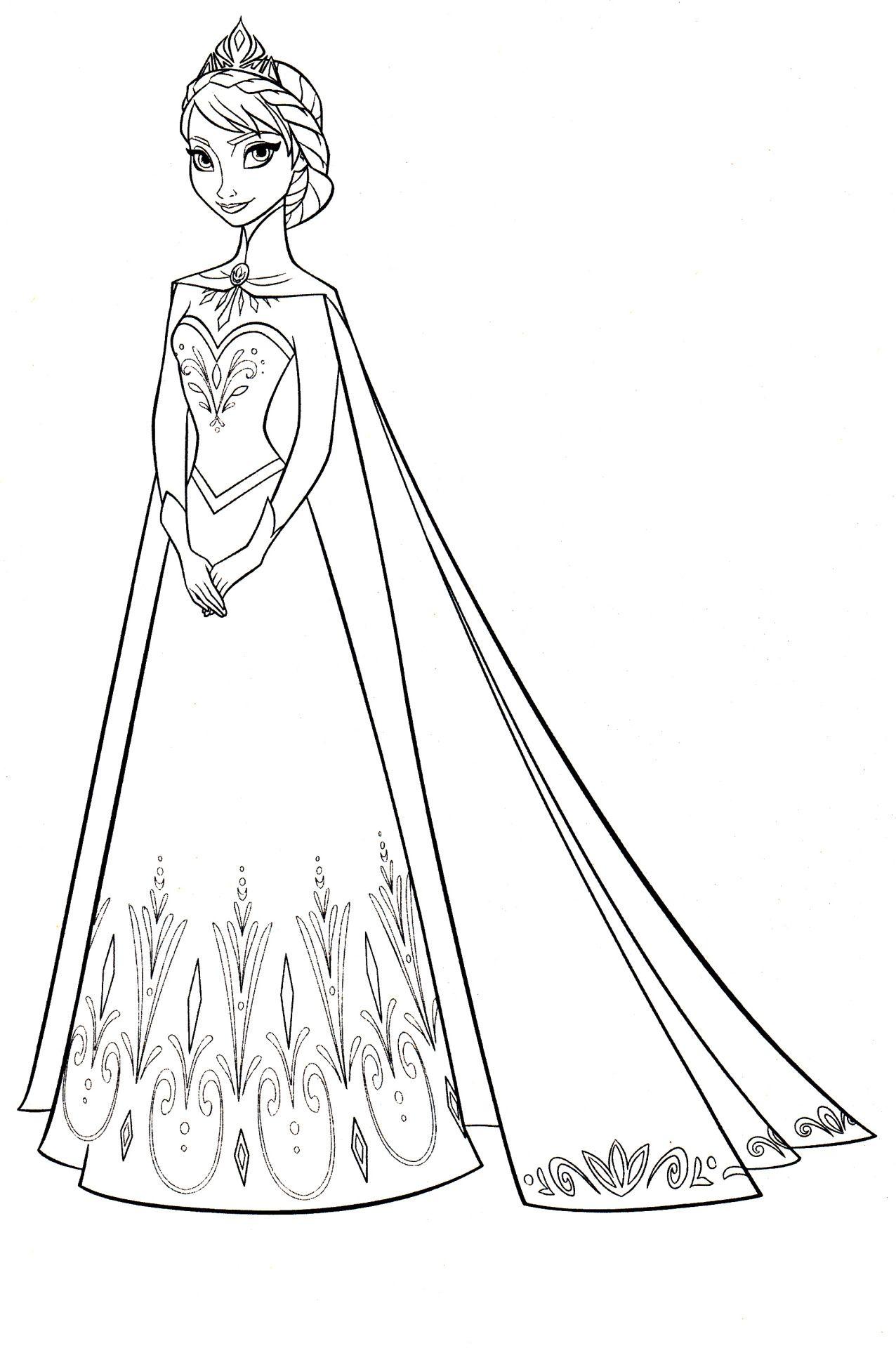 Disney Coloring Pages Coloriage reine des neiges Coloriage princesse Coloriage princesse disney