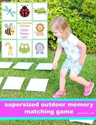 Supersized Outdoor Memory Game.