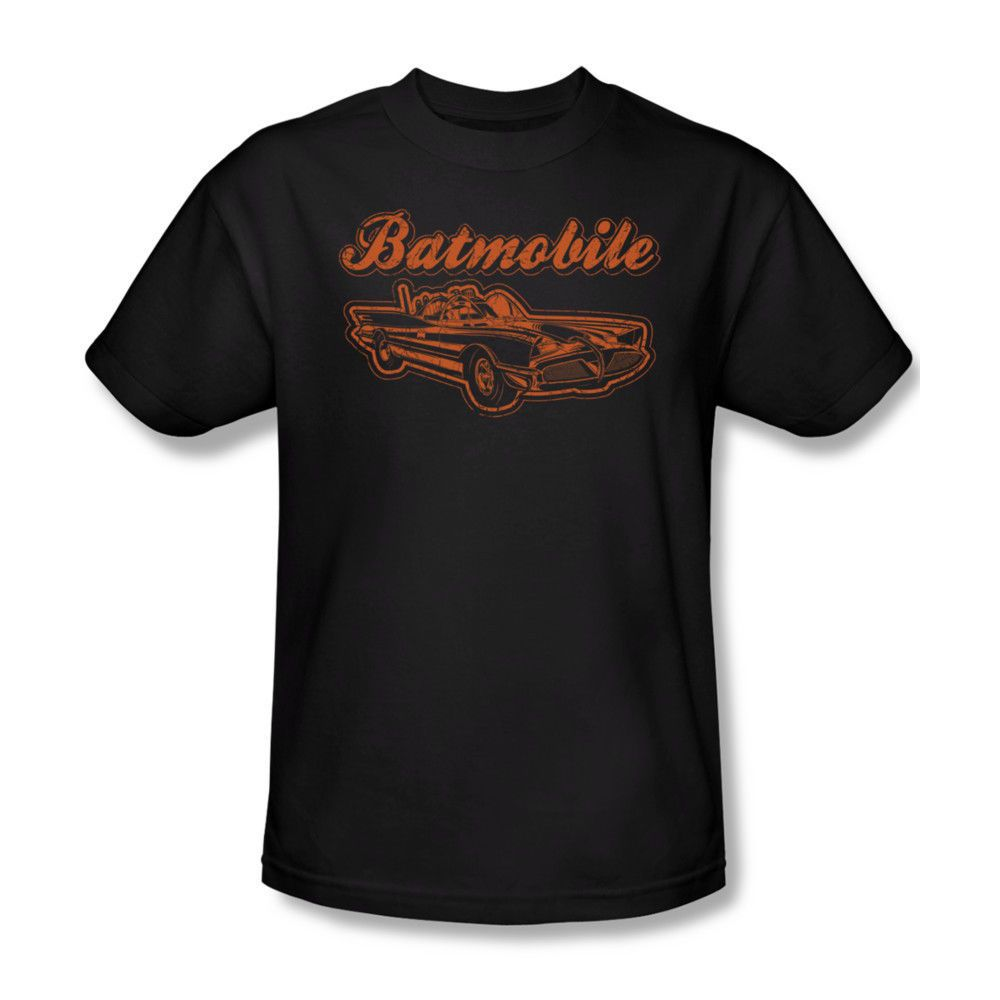 Batman Classic Batmobile DC Youth Ladies Junior V-Neck Men Long Sleeve Tank Top T-shirt