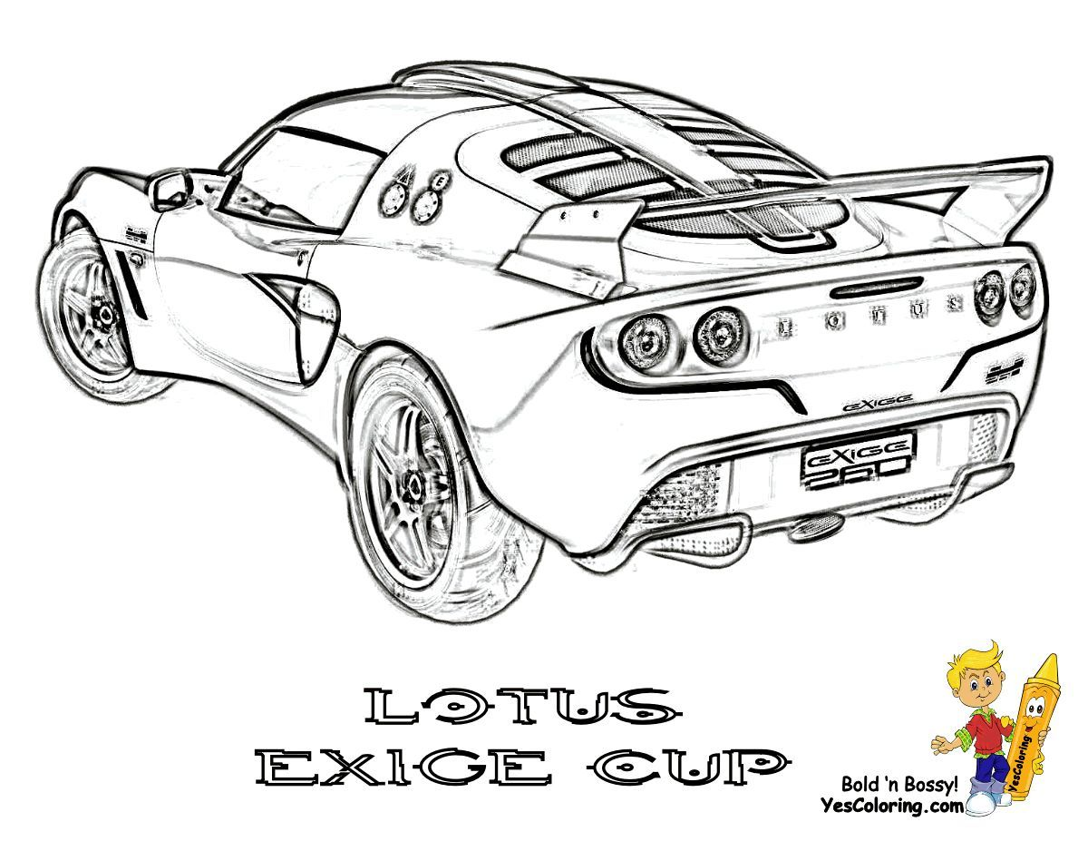 Print Out This Lotus Exige Car Coloring Page Sweet
