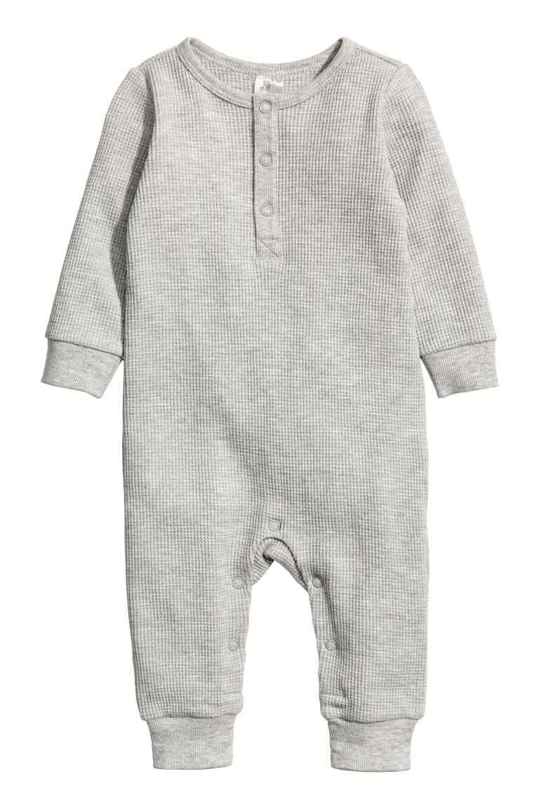 009437182 Jersey romper suit - Light grey marl - Kids