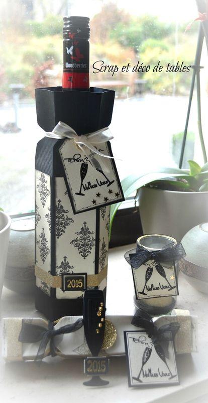 calendrier de l 39 avent j10 emballage d 39 une bouteille de vin cadeau gourmand pinterest. Black Bedroom Furniture Sets. Home Design Ideas