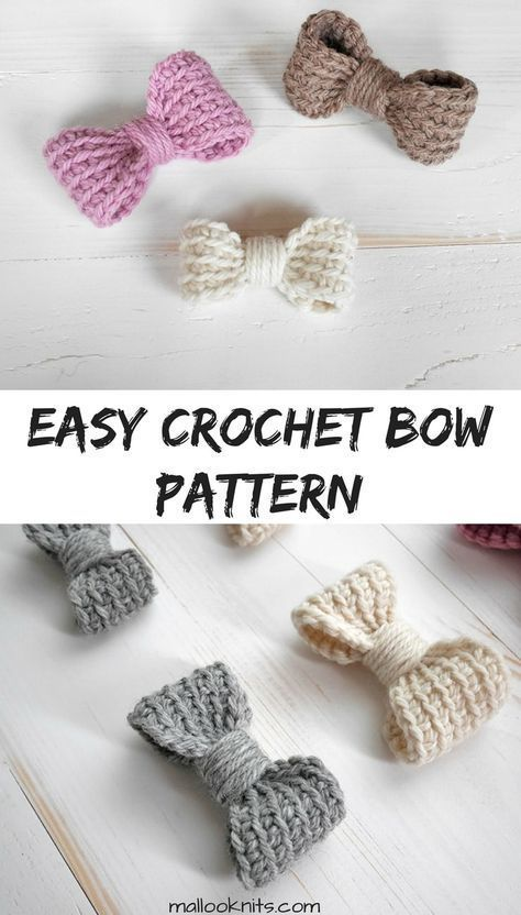 Perfect crochet bow - easy crochet pattern - mallooknits.com