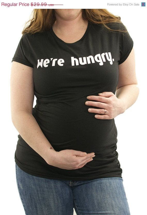 8b261f8ef We're Hungry funny Maternity T-Shirt Clothes Top - chest print - Made From  Bamboo - SUPER SOFT & Stretchy on Etsy, $24.99