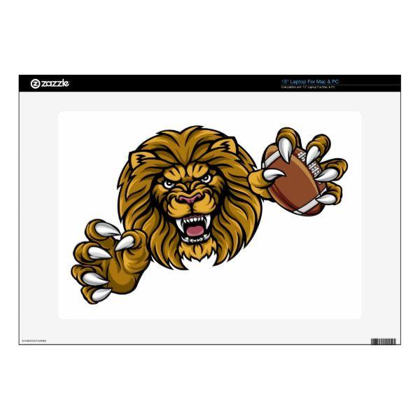 7912c6e0a Lion American Football Ball Sports Mascot Decal For 15