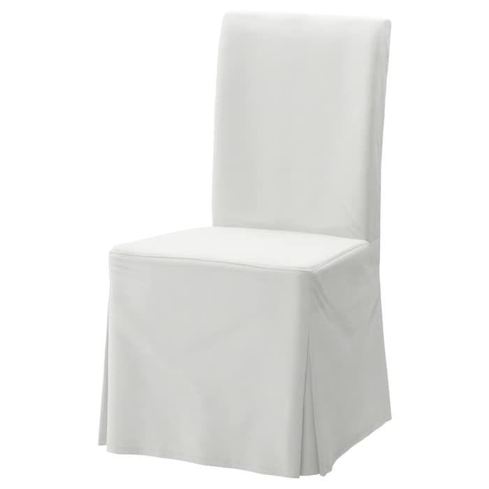 Enjoyable Chair Cover Long Henriksdal Blekinge White In 2019 Nifty Machost Co Dining Chair Design Ideas Machostcouk