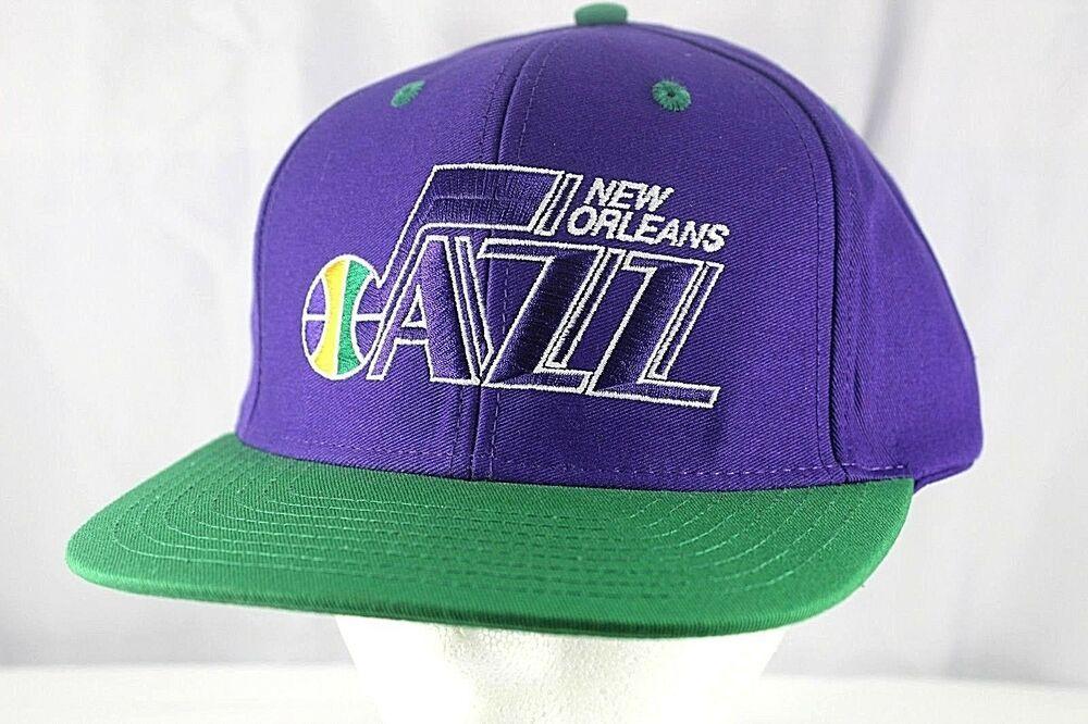 b30628b240f New Orleans Jazz Purple Green NBA Baseball Cap Snapback  Adidas  BaseballCap