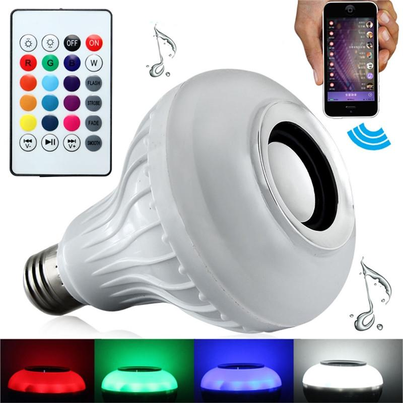Smart Bluetooth LED Light Bulb Speaker RGB Color Changing with