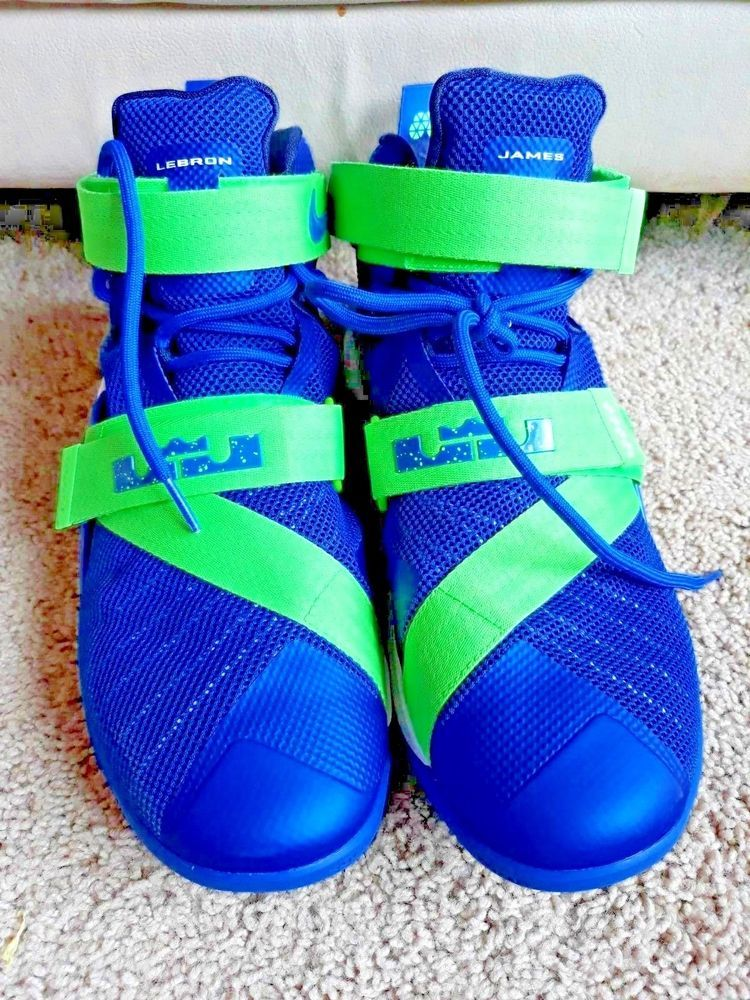 timeless design 7aca4 c8477 Nike ZOOM Lebron Soldier IX EP 749417-441 Basketball Sprite Gym White NEON  Green  Nike  Athletic