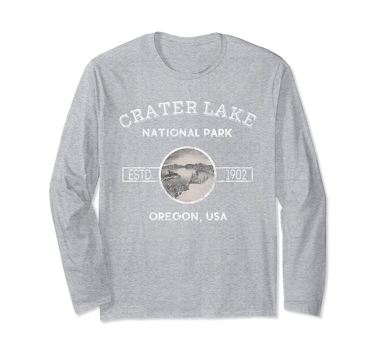 Long Sleeve Crater Lake Oregon National Park T-Shirt #craterlakeoregon