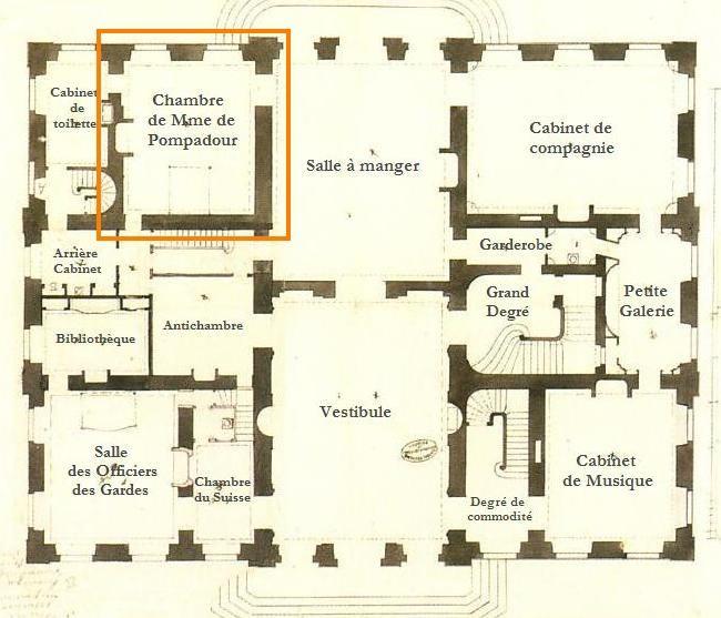 """L'Appartement de Mme de Pompadour La chambre dite """"à la Turque""""    chateaubellevue.wifeo.com"""