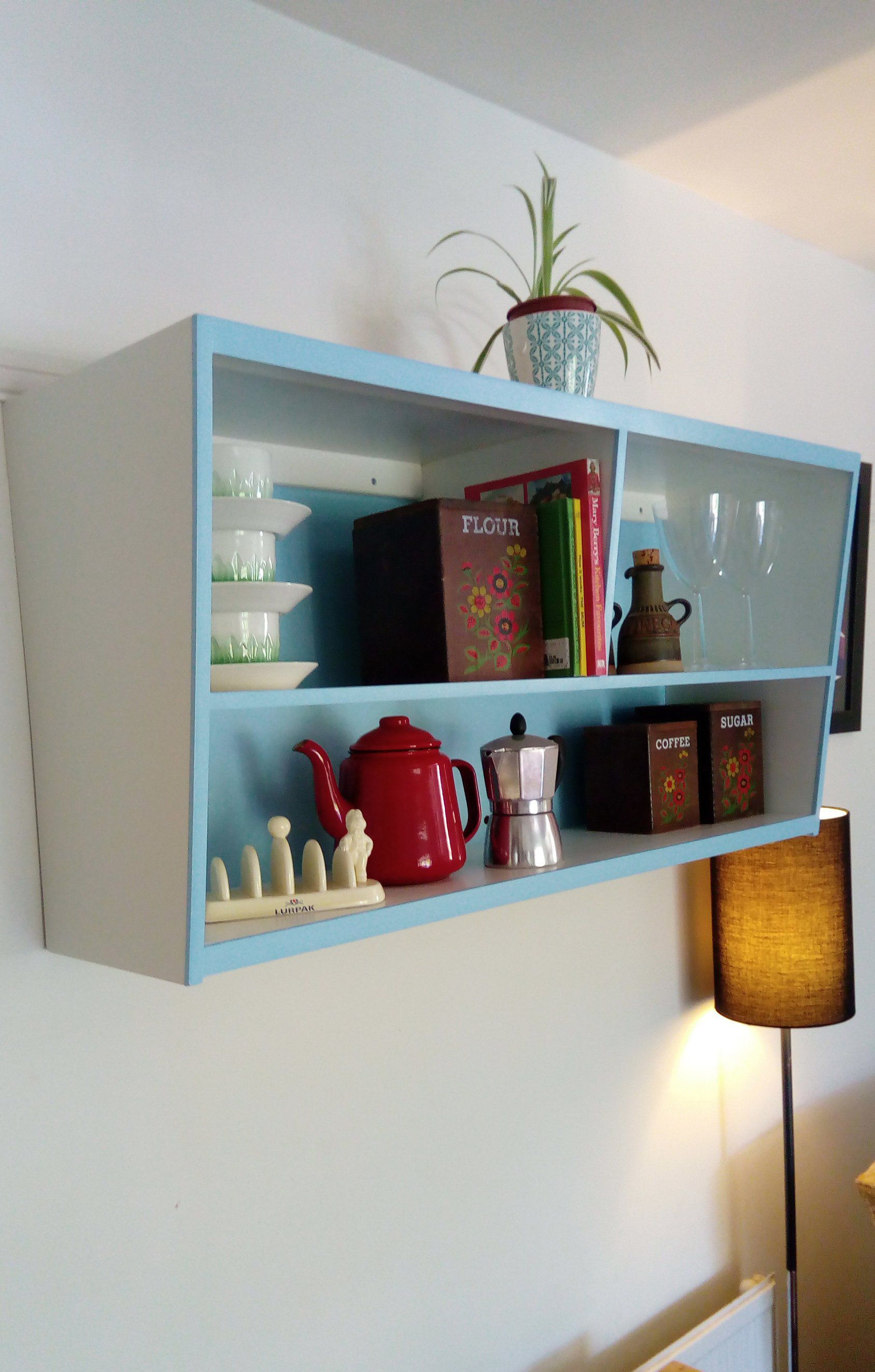 1950's inspired Kitchen wall Cabinet, Mid Century Modern ... on Traditional Kitchen Wall Decor  id=74800
