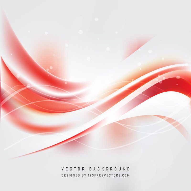 Red White Wave Background Waves Background Free Vector Backgrounds Background