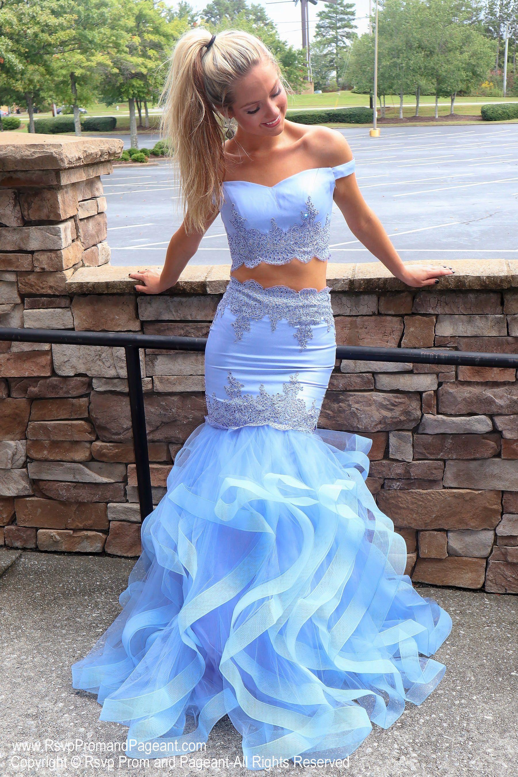 Periwinkle Sweetheart Neckline Two Piece Mermaid Prom Dress Blue Mermaid Prom Dress Mermaid Prom Dresses Prom Dresses Blue [ 2700 x 1800 Pixel ]