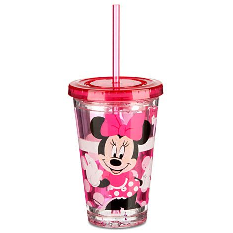 Minnie Mouse Tumbler with Straw -- Small | Drinkware ...