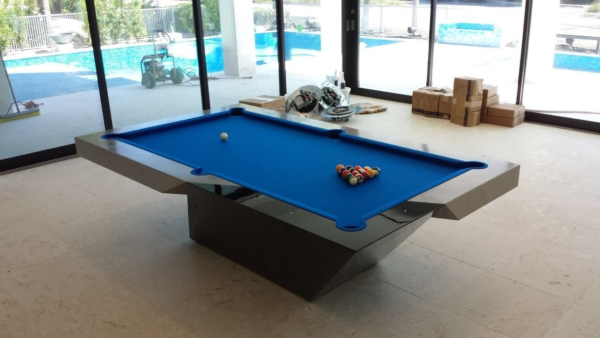 Fish tank pool table - Catalina Pool Table By Mitchell Exclusive Billiard Designs Done In Black Lacquer Automotive Paint