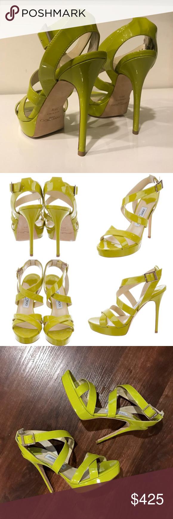 7eaf349543c Jimmy Choo Platform Sandals - Lime Green 😍 Excellent condition ...