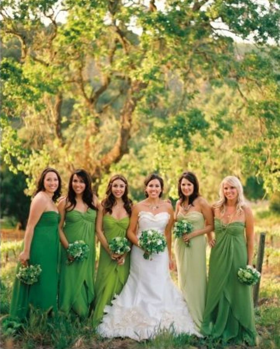 Love all these shades of green bryan park weddings greensboro nc