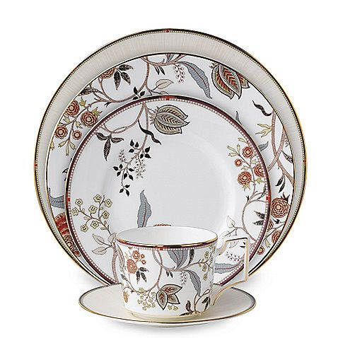Wedgwood® Pashmina Bone china wraps exotic design with classic shapes to create sophisticated pieces of distinctive appeal.