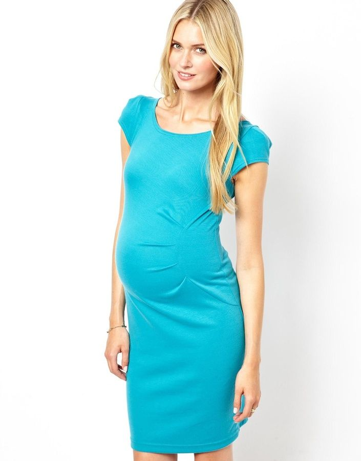 1abab135e8700 Thomas Laboratories Kate Maternity Body-Conscious Dress With Ruch Detail on  shopstyle.com