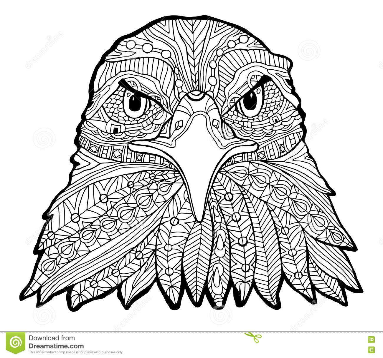 Coloriage Mandala Aigle.Image Result For Printable Adult Eagle Front View Coloring Pages