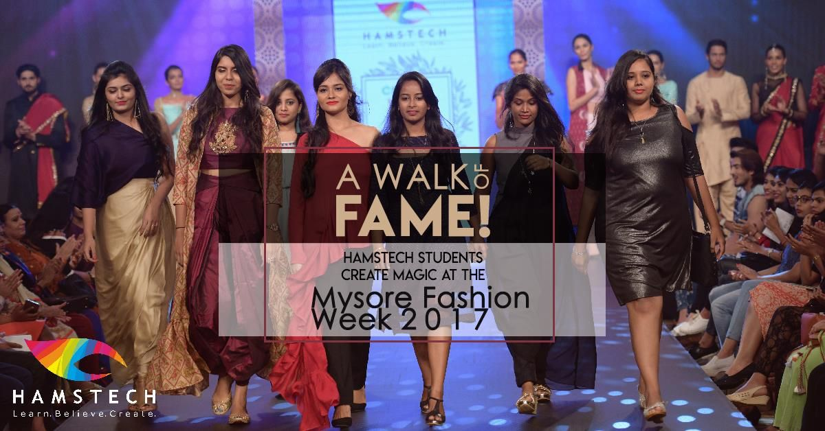 Hamstech Institute Of Fashion And Interior Design Proudly Shares The Ramp Of Mysorefashionweek Fashion Designing Course Fashion Courses Fashion Design