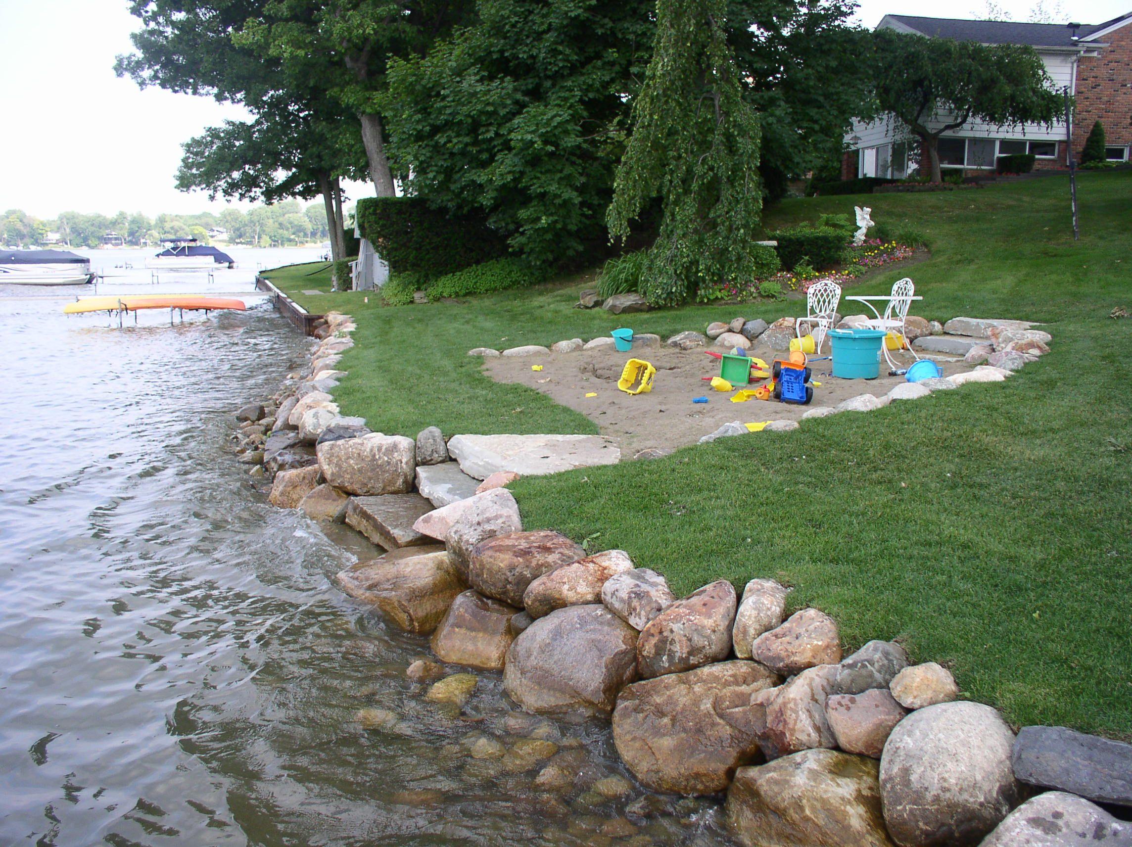 lake seawall steps - google