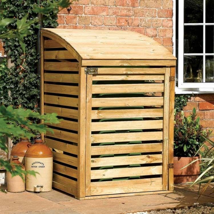 cache poubelle bois id es diy pour camoufler les. Black Bedroom Furniture Sets. Home Design Ideas