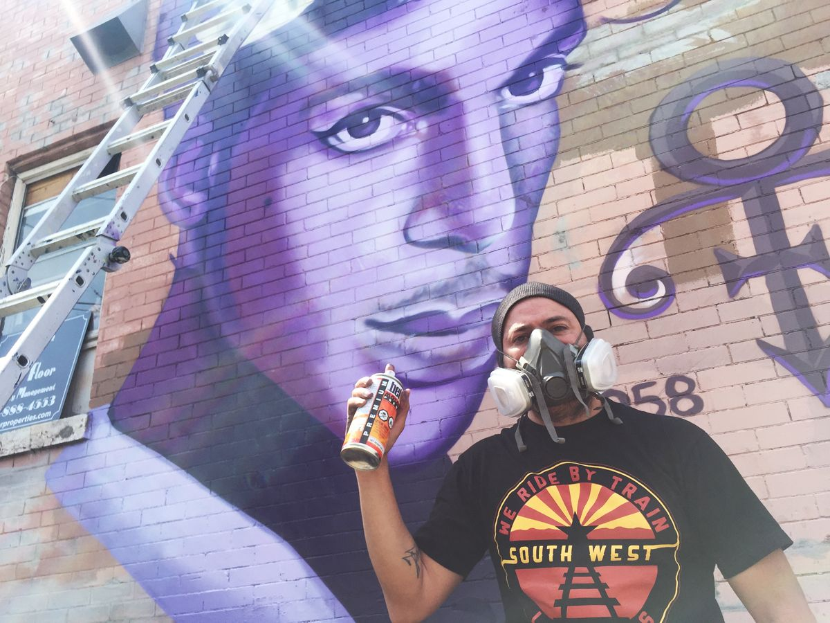 New Prince Mural In Uptown A Present To Minneapolis Street Art Love Prince Twin Cities Minnesota