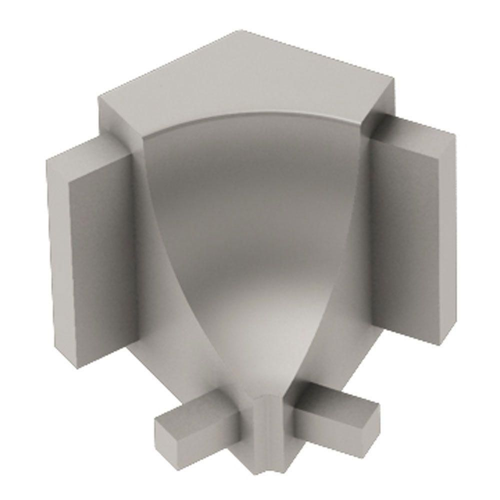 Schluter Dilex Ahk Satin Nickel Anodized Aluminum 1 2 In X 1 In Metal 135 Degree Inside Corner Tile Edge Polished Nickel Aluminum Metal