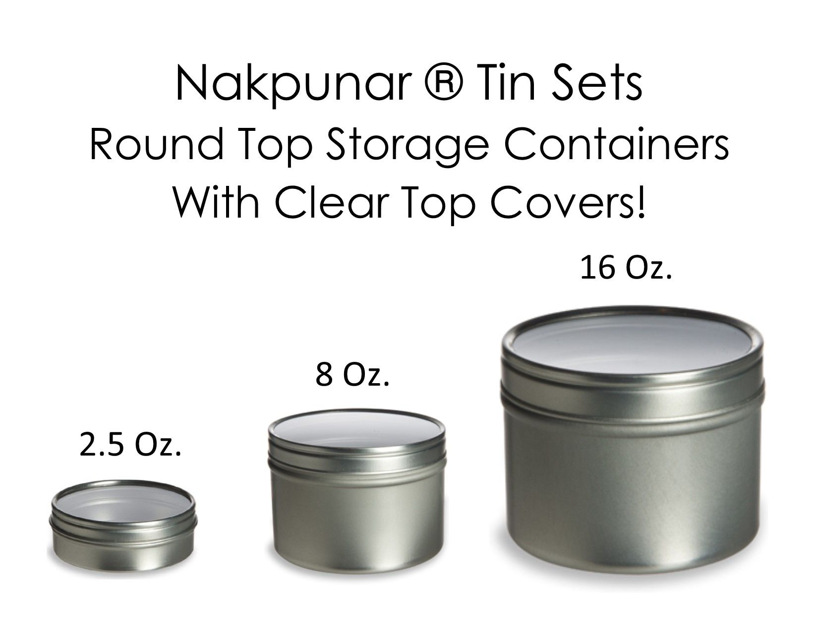 Nakpunar® Brand Tin Containers Are Available In Many Sizes. Great To  Decorate And Use