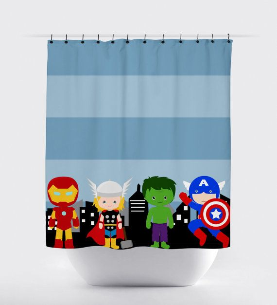 Cute Avengers Shower Curtain Tons Of Cute Kids Superhero Bathroom Shower Curtains Superhero Shower Curtain