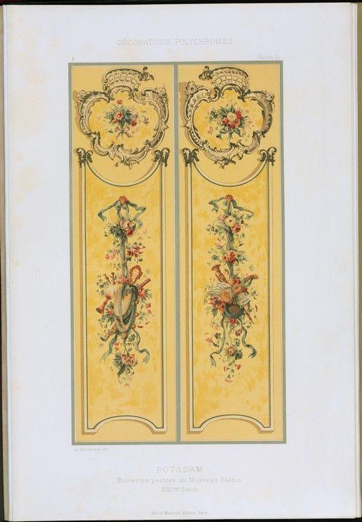 Potsdam : boiseries peintes au Nouveau Palais, XVIIIme siècle