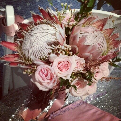 King Protea Bouquet By Leelee's Sassy Blooms In Pensacola